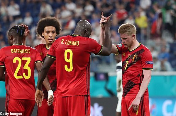 The No.1-ranked country was disappointed in last week's UEFA Nations League finals, losing 3-2 in the semi-finals to France, then being beaten 2-1 by Italy in of the play-off for third place. Roberto Martinez's current squad are the so-called Belgian Golden Generation with De Bruyne, Romelu Lukaku, Eden and Thorgan Hazard and Thibaut Courtois, but they have yet to win a major trophy. Kevin De Bruyne (right) believes that Belgium does not have the wealth of talent that France, Italy and Spain have